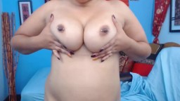 Lucious Latina housewife with hard pierced brown nipples