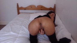 Incredible lady Amandine teasing and fingering her butt