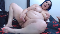 Blue haired BBW Sallie with movements that drive you crazy