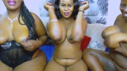 Three naughty black housewives with big tities and asses