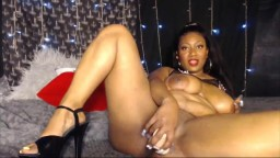 Big breasted ebony queen Nami with erotic pussy fucking