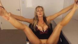 Dancing drunk housewife Bridget masturbates and gets cum