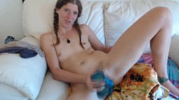 Your new roommate Ashley with hairy bush to help you cum