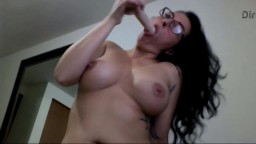 Stunning MILF Dacia chokes when she fucks her throat