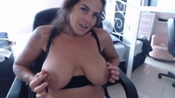 Cougar Anastazia with big naturals gets order to cum