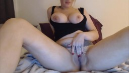 Sexy blondie Brooke likes to watch your cock get hard