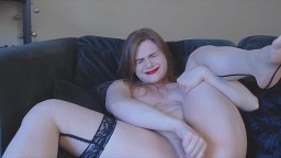 Curvy Canadian blonde Lilah Marquise in stockings