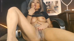 Big titted Brazilian MILF Monica fucks dripping cunt