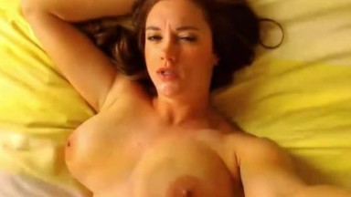 Fucking amazing blue eyed babe Erin Swallows a huge load