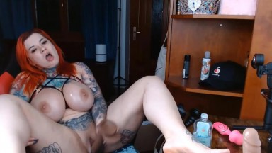 Porn celebrity Sabien DeMonia with tons of stuff to shove in