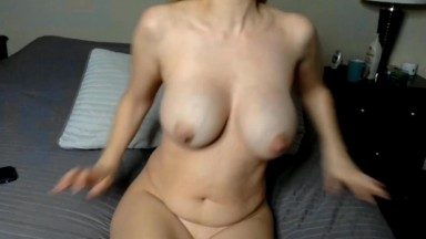 Blue eyed Vegas hot wife Alibi masturbates her horny twat