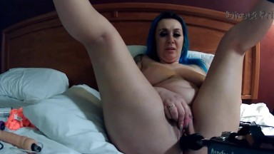Blue haired adult whore Paige you can meet at a sex party
