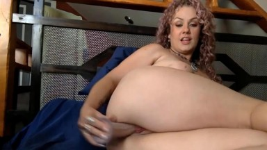Curly blue eyed mom Karina Marie knows her stuff and does it well