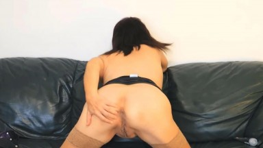 Old slut Maya Blue with sexy British accent shows holes