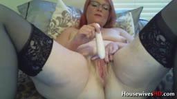Full hairy housewife Sophia gets her fantasies fulfilled