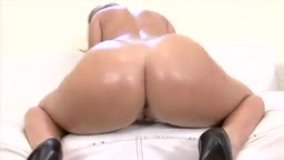 Sophie Dee with oiled big round ass gets cum in her pussy