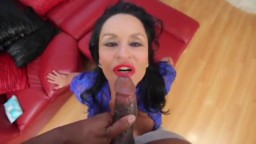 Horny 59yo cougar Rita Daniels fucks a big black dick POV